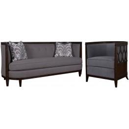 Morgan Charcoal Living Room Set
