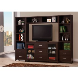 700881 Cappuccino Entertainment Wall Unit