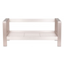 Cosmopolitan Brushed Aluminum Frame Sofa