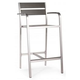 Megapolis Brushed Aluminum Bar Armchair Set of 2