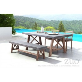 Ford Cement & Natural Rectangular Dining Room Set