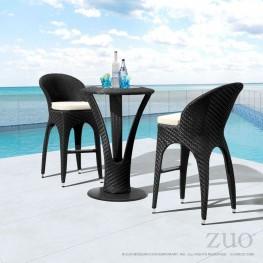 Corona Espresso & Beige Bar Chair