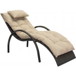 Eggertz Beach Brown and Beige Chaise Lounge