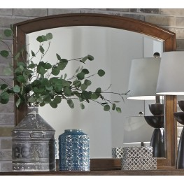 Avalon III Pebble Brown Arched Mirror