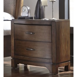 Avalon III Pebble Brown Nightstand