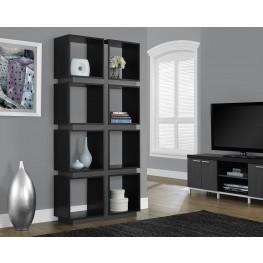 """Black/gray Hollow-Core 71"""" Bookcase"""