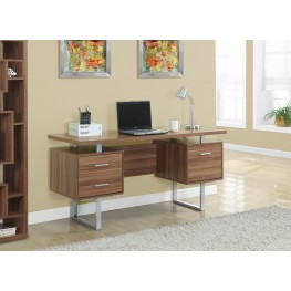 Walnut Hollow-Core/Silver Metal Office Desk