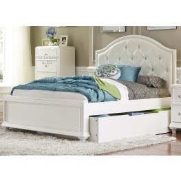 Stardust Iridescent White Full Panel Trundle Bed