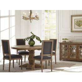 Manor House Distressed Round Dining Room Set