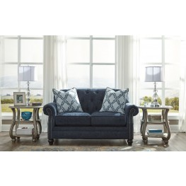 LaVernia Navy Loveseat