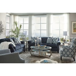 LaVernia Navy Living Room Set