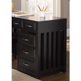 Hampton Bay Black Mobile File Cabinet