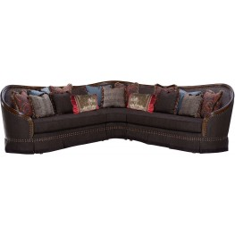 Gracious Living Uph Charcoal 3 Piece Sectional
