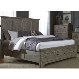 Highlands Gravel Queen Two Sided Storage Bed