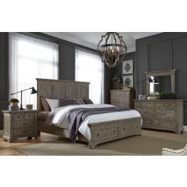 Highlands Gravel Panel Storage Bedroom Set