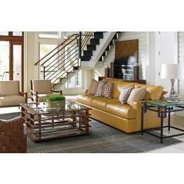 Island Fusion Osaka Butterscotch Leather Living Room Set