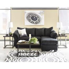 Darcy Black Sofa Chaise