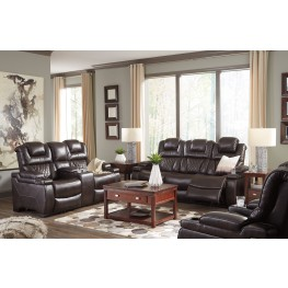 Warnerton Chocolate Power Reclining Living Room Set