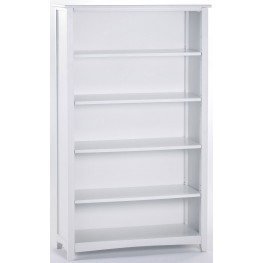 School House White Vertical Bookcase