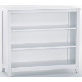 School House White Short Vertical Bookcase