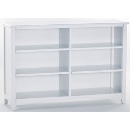 School House White Horizontal Bookcase