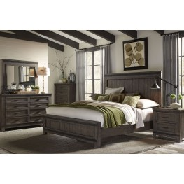 Thornwood Hills Rock Beaten Gray Panel Bedroom Set