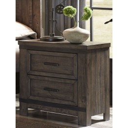 Thornwood Hills Rock Beaten Gray Nightstand