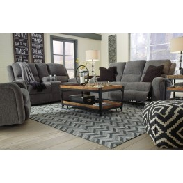 Krismen Charcoal Power Reclining Living Room Set