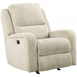 Krismen Sand Power Rocker Recliner with Adjustable Headrest