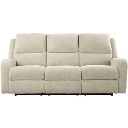 Krismen Sand Power Reclining Sofa with Adjustable Headrest