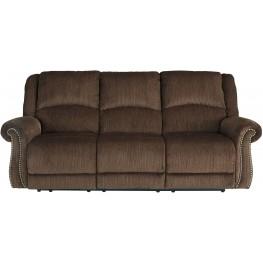 Goodlow Chocolate Power Reclining Sofa with Adjustable Headrest