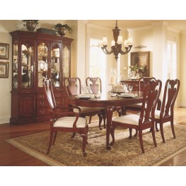Cherry Grove Classic Antique Cherry Oval Leg Extendable Dining Room Set