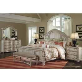 Belmar Antique Linen Panel Bedroom Set