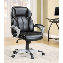 Black Vinyl Office Chair 800038