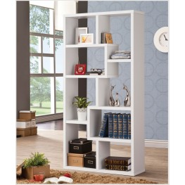 800136 White Bookshelf