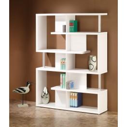 800310 White Bookcase