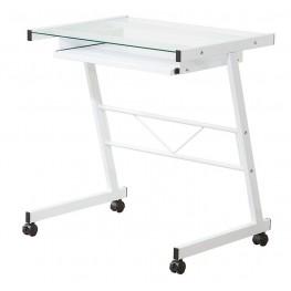 800817 White Mobile Computer Desk