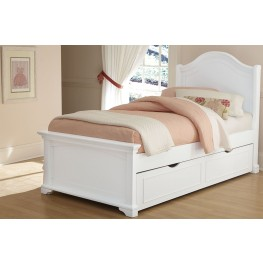 Walnut Street White Morgan Twin Arch Panel Bed with Trundle