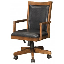 Maclay Red Brown Office Chair