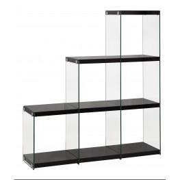 801260 Glossy Black Bookcase