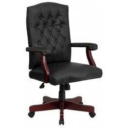 Martha Washington Mahogany Bonded Leather Executive Swivel Chair (Min Order Qty Required)