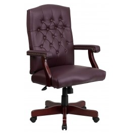 Martha Washington Bonded Leather Executive Swivel Chair (Min Order Qty Required)
