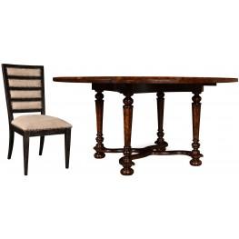 The Foundry Cafe Ness Dark Oak Dining Room Set