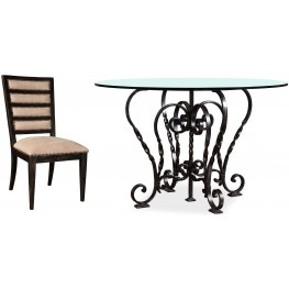 The Foundry Cafe Freese Metal Round Dining Room Set