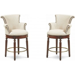 The Foundry III Cream Nemes Counter Stool Set of 2