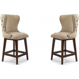 The Foundry III Cream Costello Bar Stool Set of 2