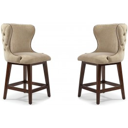 The Foundry III Cream Costello Counter Stool Set of 2