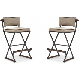 The Foundry III Brown Rowland Bar Stool Set of 2