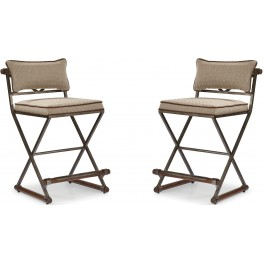 The Foundry III Brown Rowland Counter Stool Set of 2
