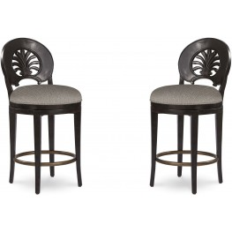 The Foundry III Brown Mendelsohn Counter Stool Set of 2